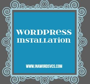 WordPress blog installation